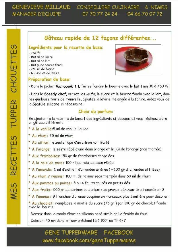 Dessert - Gateau rapide - Tupperware