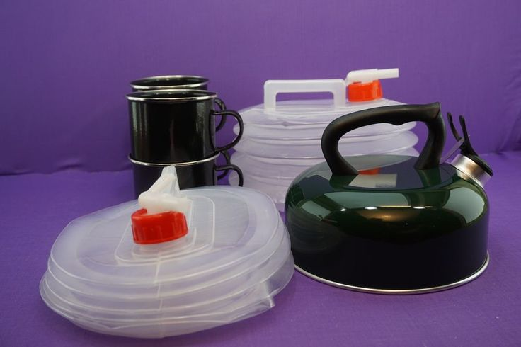CAMPING KETTLE CUPS FOLDING WATER BOTTLE  FESTIVAL HOLIDAY HIKING job lot bundle