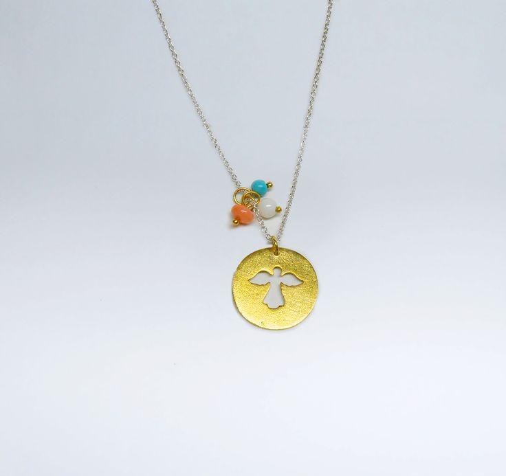 Fio Anjo da Guarda em Prata com Banho de Ouro +info: joias.she@gmail.com