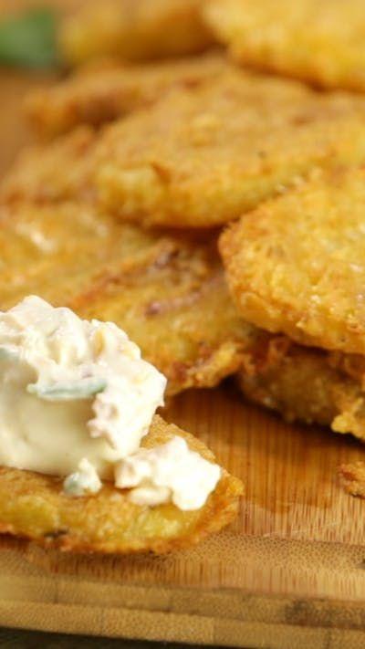 Deliciosas papas crocantes hechas con queso