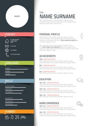 Best Resume Design Images On   Cv Template Resume Cv