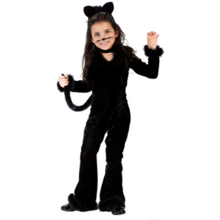 Kids Costume - This girls Toddler Playful Kitty Costume includes the black jumpsuit tail and the matching headpiece with ears.  sc 1 st  Pinterest & The 75 best Future halloween costumes ! images on Pinterest ...