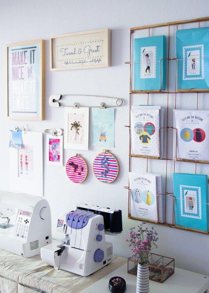 Nähzimmer Makeover: Meine Wand der schönen Dinge und Tipps für's Einrichten Eures Nähbereichs