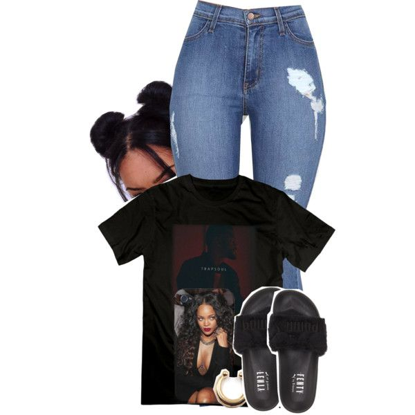 A fashion look from April 2016 featuring Puma sandals. Browse and shop related looks.