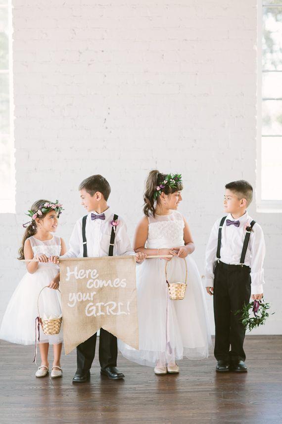 Romantic texas | Apryl Ann Photography | Read more - http://www.100layercake.com/blog/?p=75412 #flowergirl #weddingsignage