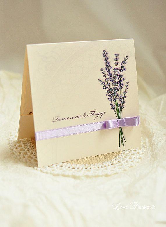 Lavender Wedding Invitation by LoveBlanketWedding on Etsy. See more on the blog: http://www.imperatrizata.blogspot.com/