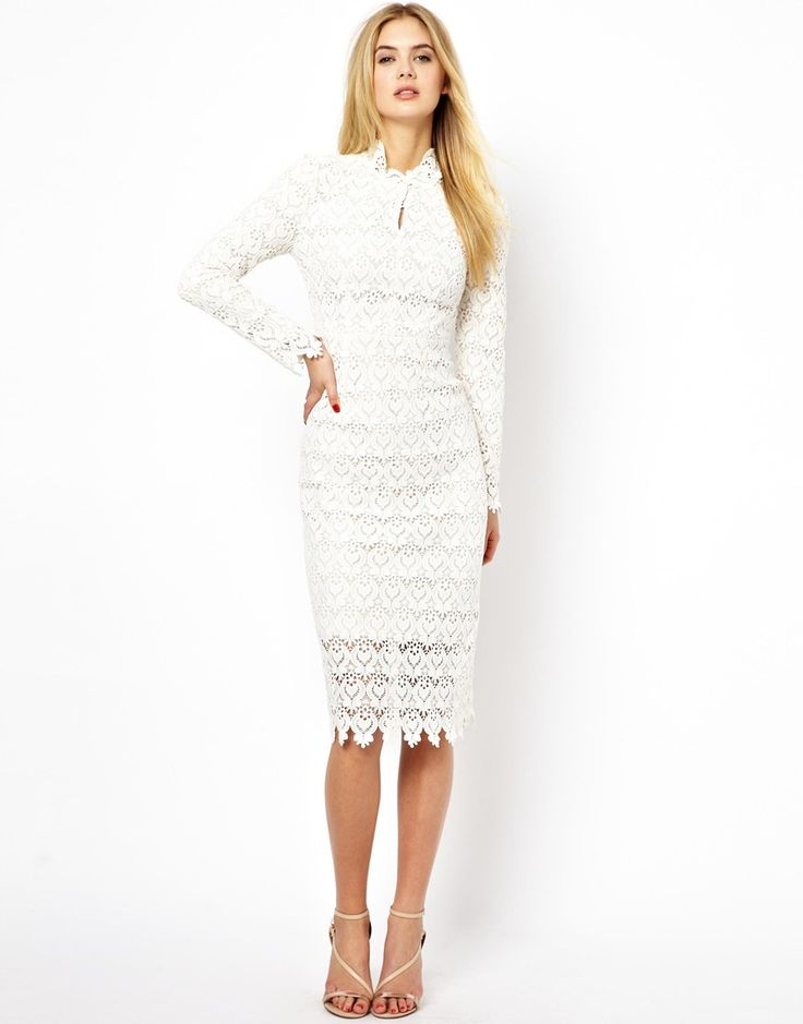 Arrogant cat london high neck pencil dress in lace for Pencil dress for wedding