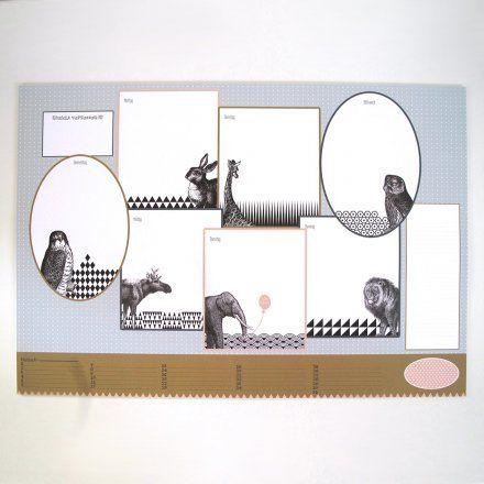 Ava&Yves Schreibunterlage Tiere 50 Blatt