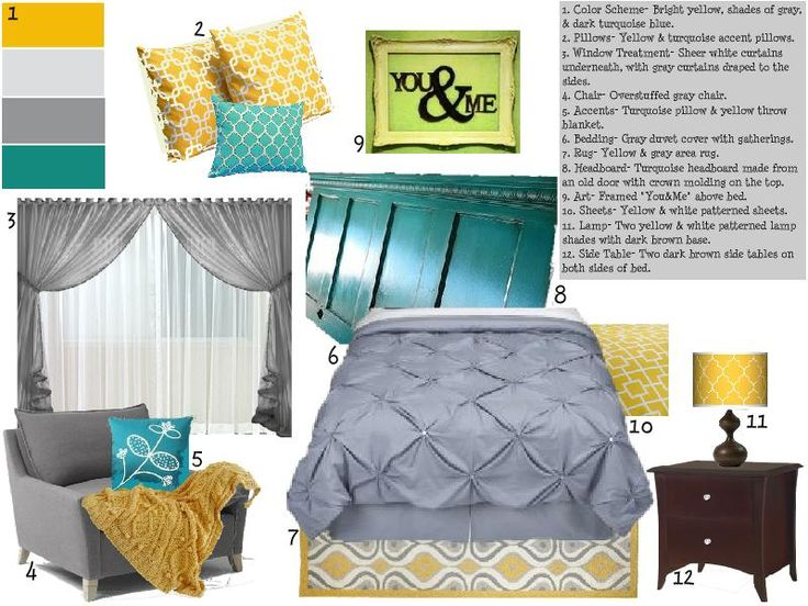 62 Best Images About Master Bedroom Ideas On Pinterest Turquoise Yellow Gray Turquoise And