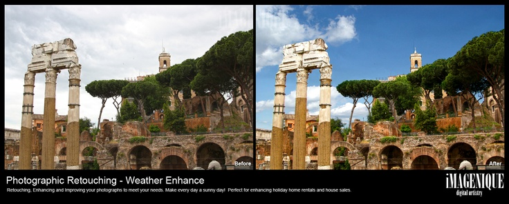 iMAGENIQUE - Photographic Retouching. Weather Enhance 'Make Every Day a Sunny Day!'