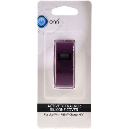 Onn Plain Sleeves for Fitbit Charge HR, Plum