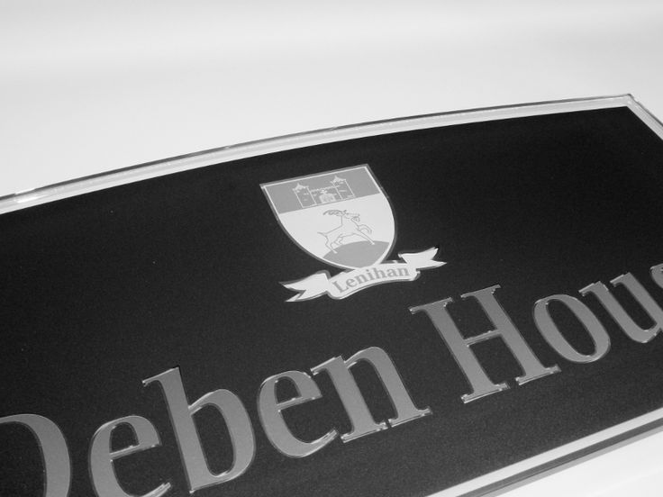 Personalised House Signs with your Families 'Coat of Arms' www.de-signage.com