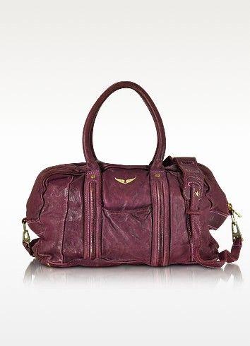New Arrivals: Zadig & Voltaire - Beha Deep Dye Lilas Leather Satchel Bag