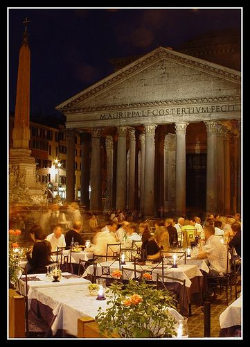 Oh how I loved Italy!! This would be so amazing! Dining Al Fresco,Rome,Italy