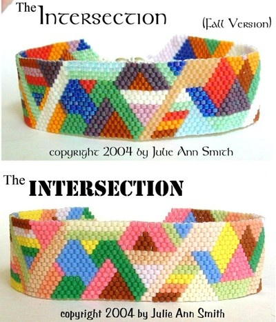 JULIE ANN SMITH DESIGNS *The Intersection Bracelet Pattern*