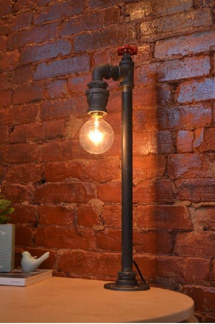 Table Light - Table Lamp - Steampunk Light - Industiral Light - Lighting - Childrens Light - Night Light - Industrial Table Lamp
