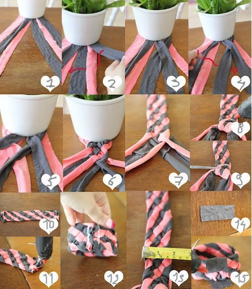 Recycled T-Shirt Bracelets Eco-friendly Craft    http://planetforward.ca/blog/recycled-t-shirt-bracelets-eco-friendly-craft/#