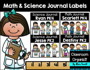 This packet includes Math & Science Journal labels for the primary grades. You may customize with your own f'ont styles or you may download and use Hello Basic and KG Second Chances Solid by going to Jen Jones Hello Literacy and Kimberly Geswein Fonts TpT stores.