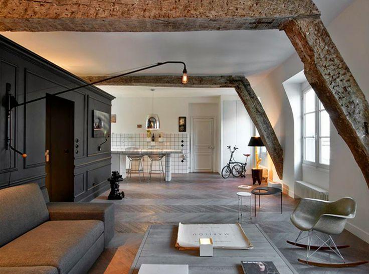 Appartement parisien via Le Petit Florilège