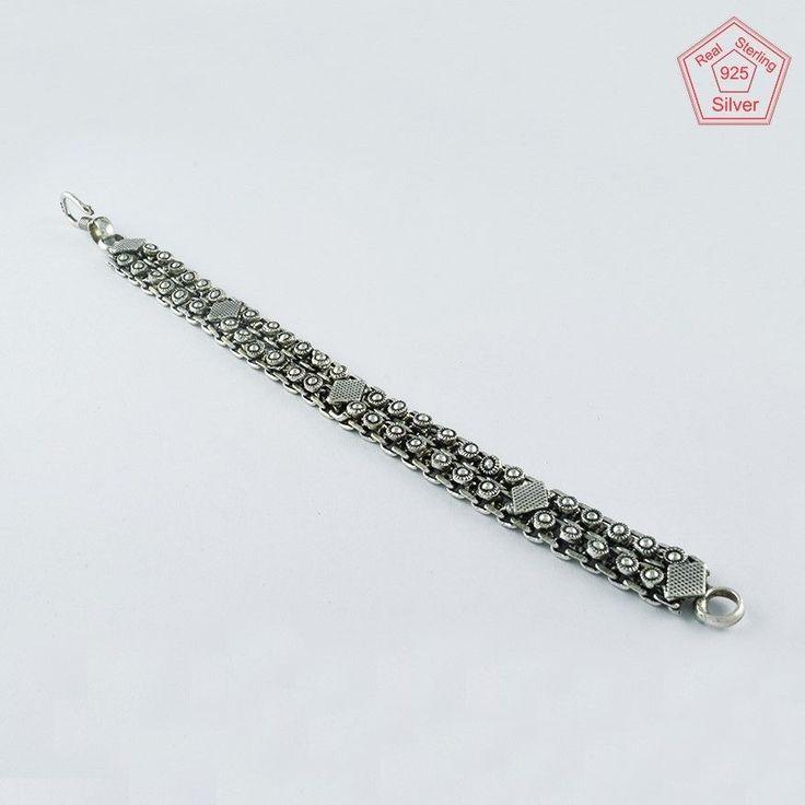 NEW FANCY DESIGN 925 STERLING SILVER BRACELET BR4370 #SilvexImagesIndiaPvtLtd #Chain