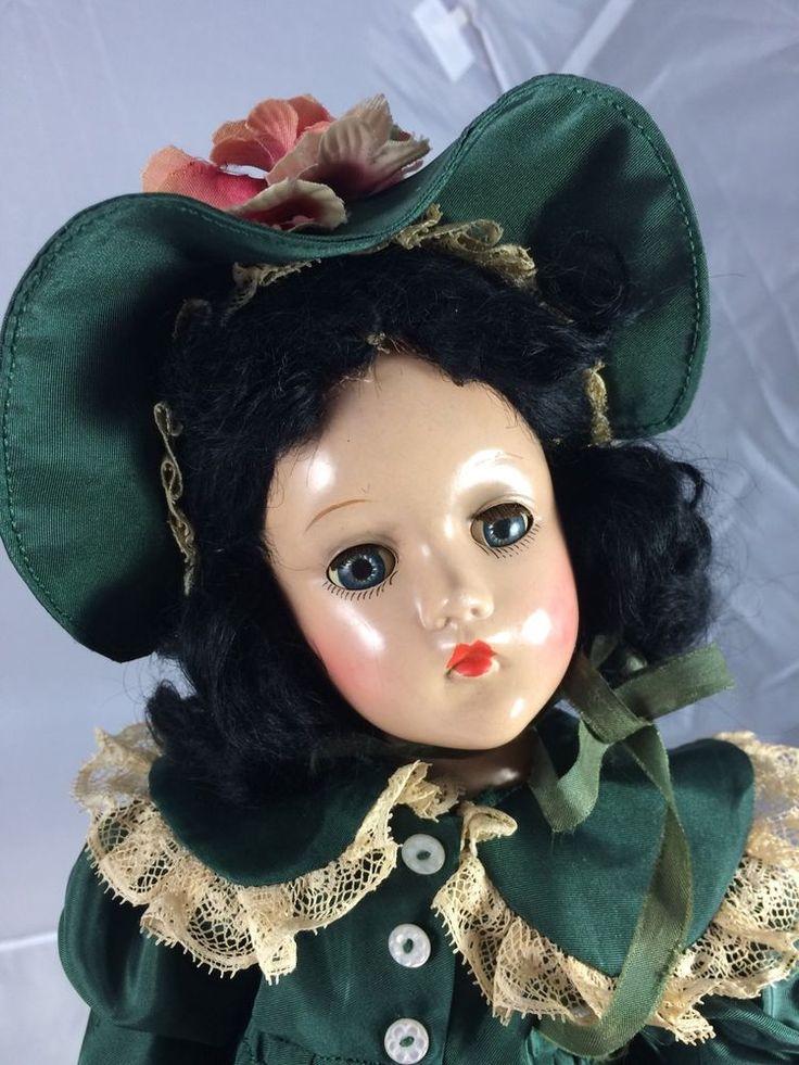 1930s Composition Madame Alexander Scarlet Ohara Doll! Amazing! #MadameAlexander #Dolls