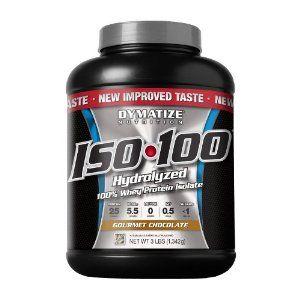 Dymatize Nutrition ISO 100 hidrolizada 100% protein de suero, Gourmet Chocolate, 3 Libras...Dymatize ISO 100 deriva su nombre de su fuente de proteína, 100% Aislado de proteína de suero. Proteína de suero de Dymatize Nutrition Aislar ha sido procesado en el cenit de la perfección, 100% hidrolizada e instantánea ya través de no menos de 5 grados de calidad y ....LEER MÁS..