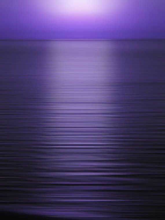 Purple Sea At Sunset Nature Photography Landscape Photography Wall Art Print Violet Ocean Lavender Horizon In 2020 Purple Sunset Purple Art Nature Photography