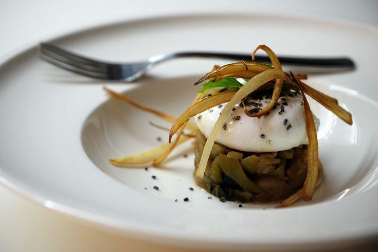 #uovo in camicia con caponata e menta #poachedegg #ricette #mangiaredadio