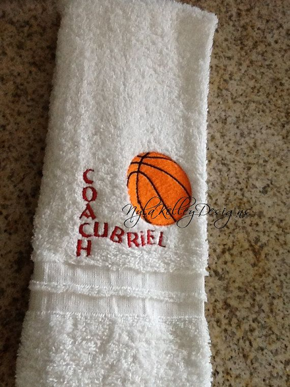 Sporting Towel Coach Basketball Baseball by NYLAKELLEYDESIGNS, $13.99