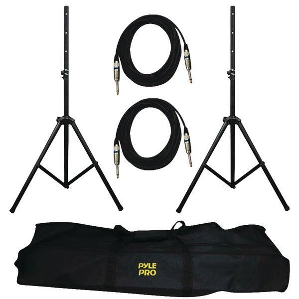 Pyle PMDK102 Heavy-Duty Pro Audio Speaker Stand & 1/4'' Cable Kit