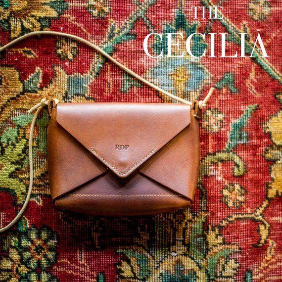 The Cecilia Fine Leather Envelope Purse in Black