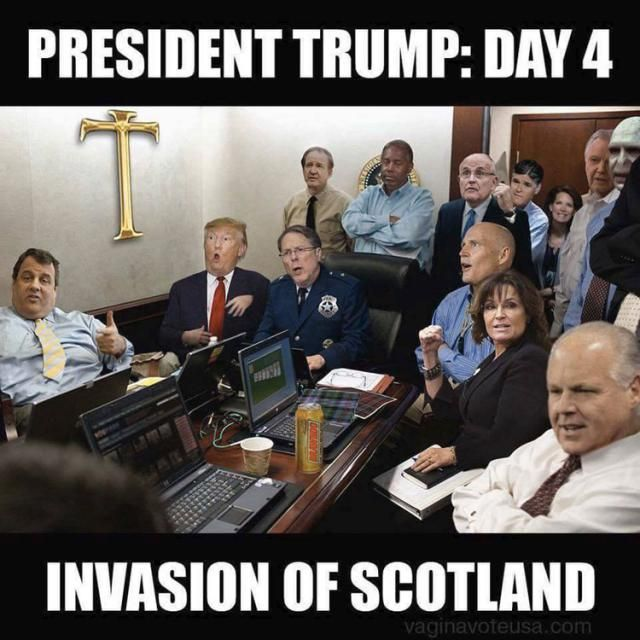 When I saw him...hahhaa Funny Donald Trump Memes and Viral Images: Trump Situation Room