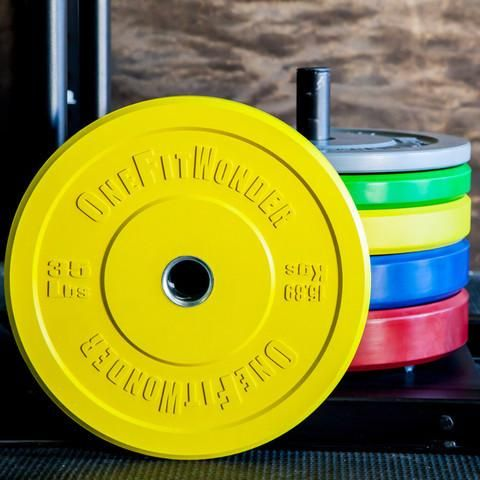 FitnessSanctum.com  Set of CrossFit-Style Color Bumper Plates from OneFitWonder / $490---(fitnessssanctum.com...)