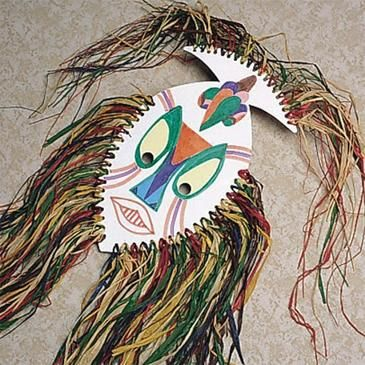 Authentic-looking African masks are reminiscent of the ones used to bring rain or chase away evil. Fun to decorate with markers!
