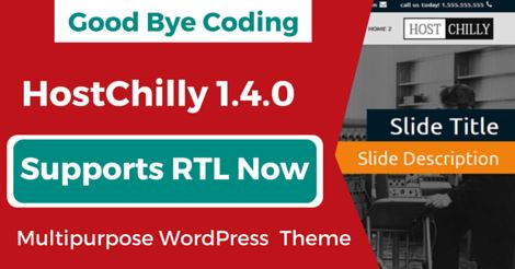 ThemeChilly releases HostChilly 1.4.0 #wordpress #hosting #template  with powerful theme options,requires NO CODING for customization of your #website :) Supports #RTL Now! 1 year support and updates included in $49:) https://www.themechilly.com/hostchilly-wordpress-web-hosting-theme