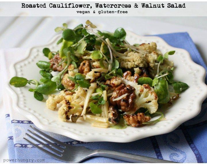 cauliflower walnuts raisins watercress salad