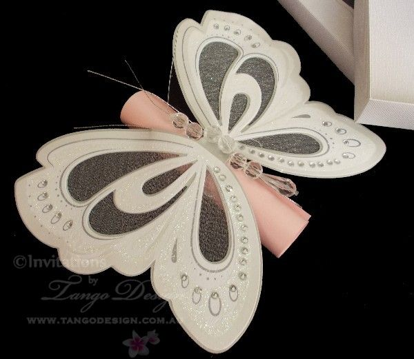 Butterfly Invitations Scroll