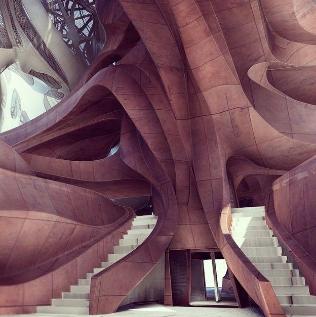 Frank Gehry LA Concert Hall interior?                                                                                                                                                                                 Más