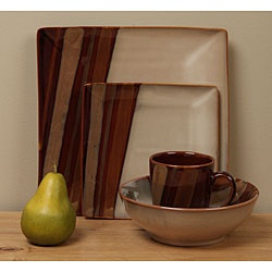 @Overstock - Enhance your kitchen decor with a set of plates, bowls, and mugs  Dinnerware is dishwasher and microwave safe   Casual dinnerware is available in a brown color optionhttp://www.overstock.com/Home-Garden/Sango-Avanti-Brown-16-piece-Dinnerware-Set/3985487/product.html?CID=214117 $69.95