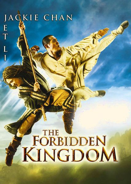 The Forbidden Kingdom - Jackie Chan and Jet Li star in this rousing adventure about a martial arts movie fan who finds a mystical staff that transports him to ancient China.