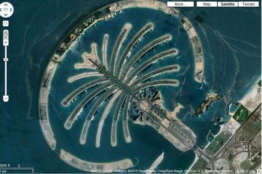 Palm islands in Dubai UAE