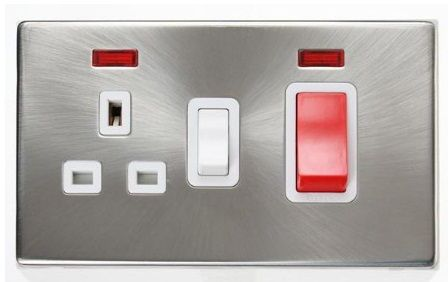 socket with switch and indicator light