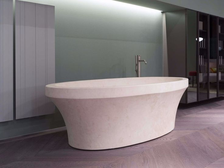 Vasca da bagno centro stanza ovale in pietra naturale EPOQUE by Antonio Lupi Design® design Carlo Colombo