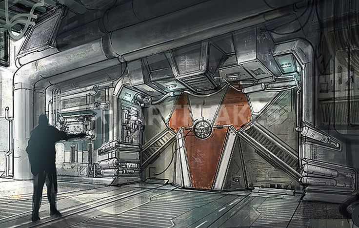 1000 images about scifi interiors on pinterest cyberpunk artworks and science fiction - Several artistic concepts for main door ...