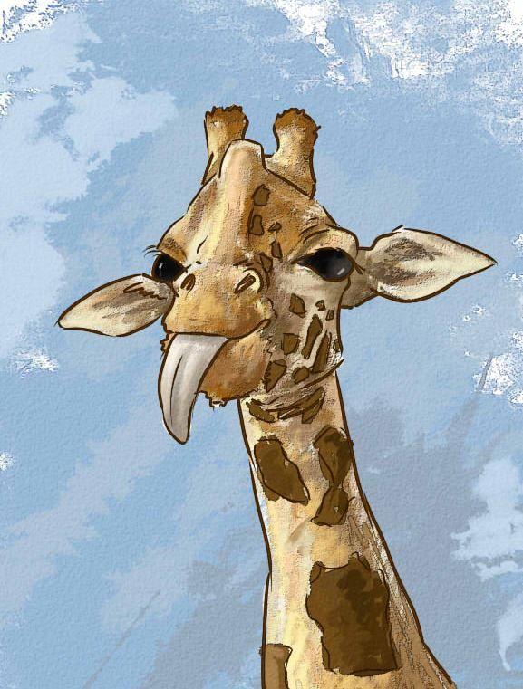 "жираф, art, рисунок, ""принцесса Надя"""