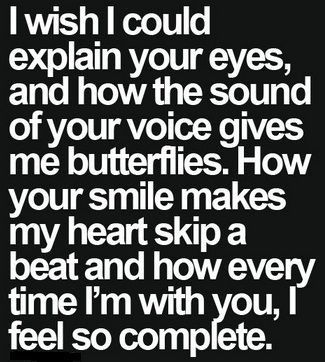 quotes about getting butterflies for someone | That flying butterflies you feel inside your stomach whenever you are ...