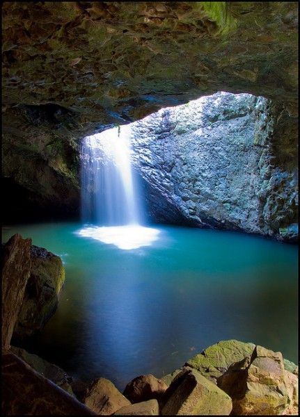 Natural Bridge, Springbrook Park, Australia Sitting over Cave Creek, a tributary of the Nerang River, the Natural Bridge illustrates the amazing erosive power of water.