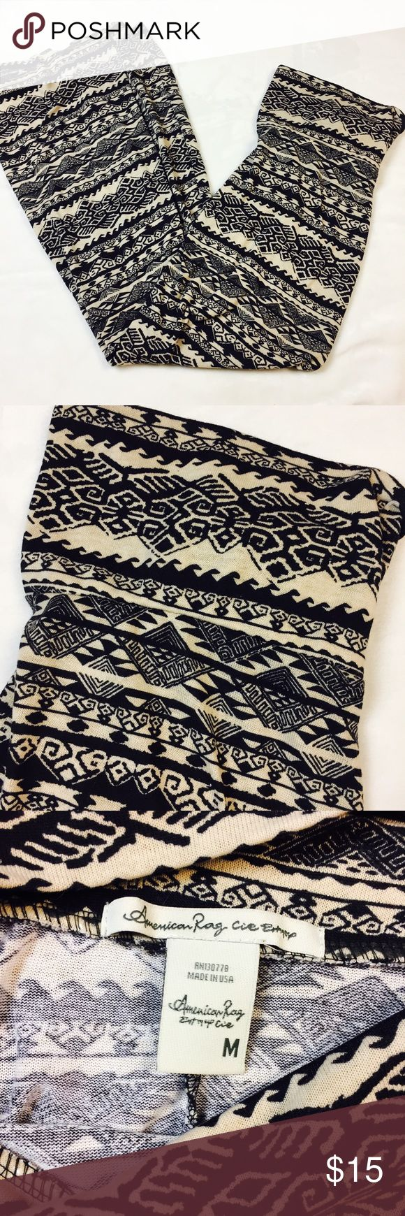 EUC American Rag tribal maxi skirt M EUC American Rag tan and black tribal maxi skirt. Soft material, extremely comfy! Size medium! American Rag Skirts Maxi