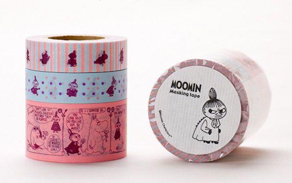 New--- The Moomin Series Japanese Masking Tape Set of 3 (Lillamy)