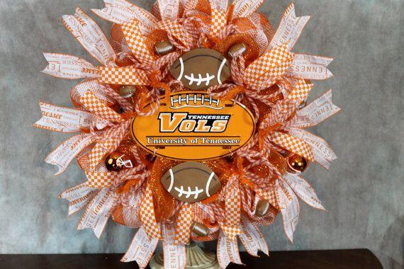 TN Vols football wreath  TN Vols sports by SouthernCharmFlorals